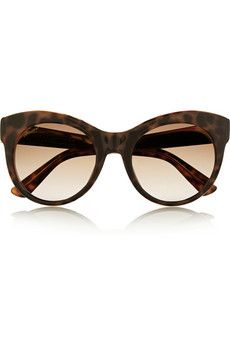 447b2c658bd Gucci Cat-eye acetate and metal sunglasses