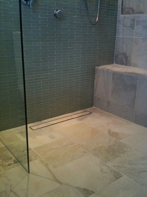 Products Linear Shower Drain Loves This Idea Of The Hidden Drain Shower Drain Hidden Shower Bathroom Makeover