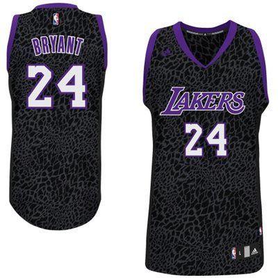 8e2a582ba3f Men s NBA LA Lakers  24 Kobe Bryant Crazy Light Swingman Black Jersey
