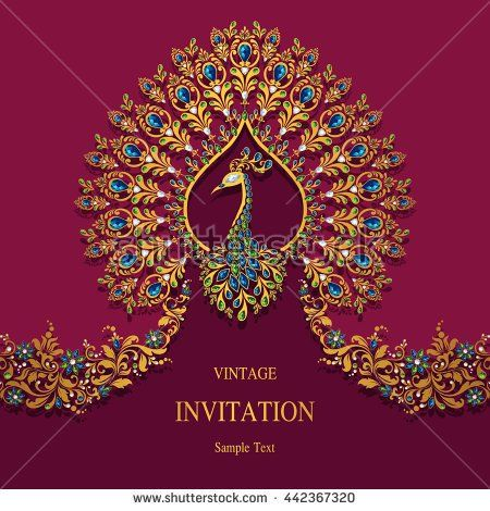 Stock vector wedding invitation or card with abstract background stock vector wedding invitation or card with abstract background islam arabic indian dubai 442367320g 450470 stopboris Images