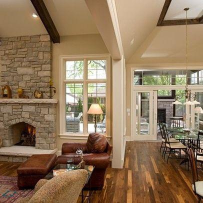 open concept kitchen and family room  7438 sunken living