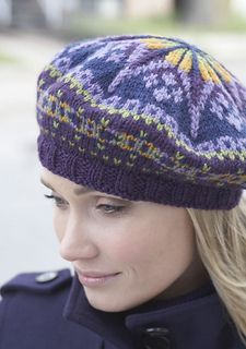 Fair Isle Tam pattern by Patons | Tams | Knitted hats, Knitted beret