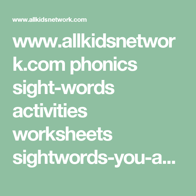 Find The Main Idea Worksheet Wwwallkidsnetworkcom Phonics Sightwords Activities Worksheets  Easy Tracing Worksheets Pdf with Subtraction Across Zeros Worksheets Word Phonics Sightwords Activities Worksheets Sightwordsyouandplaywithpdf Least Common Denominator Worksheets 5th Grade Pdf