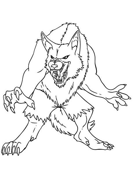 Here Are 10 Amazing Monster Coloring Pages Free To Print For Your Kids Monster Coloring Pages Werewolf Drawing Animal Coloring Pages