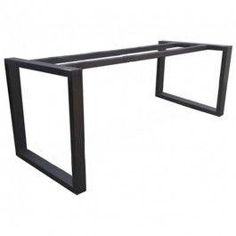 Modern Steel Table Base Frame Black Mesas De Comedor Diseño De Interiores Industrial Muebles De Acero