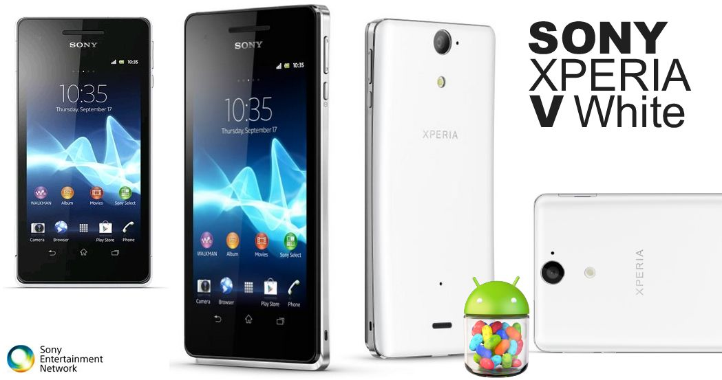 White edition Sony Xperia V - http://www.phoneslimited.co ...