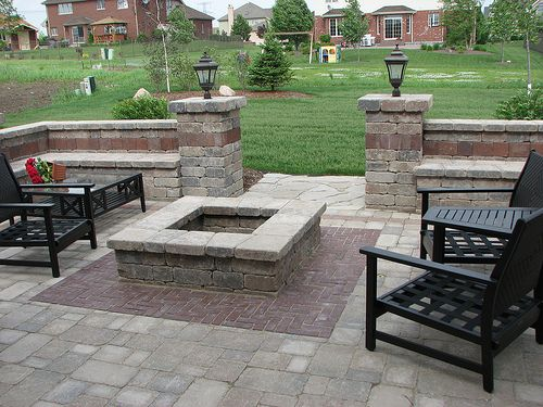 Square Fire Pit And Seating Outdoor Fire Pit Outdoor Fire Pit