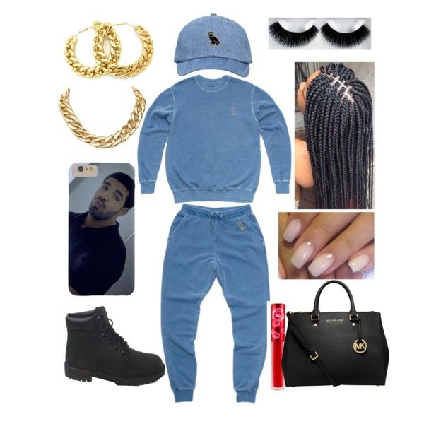OVO DRAKE by xbabyxdesx on Polyvore featuring polyvore fashion style October's Very Own MICHAEL Michael Kors Lime Crime eylure Timberland