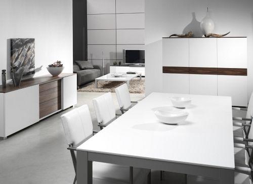 Karat - Mat gelakt met hout accent - Moderne eetkamer in ...