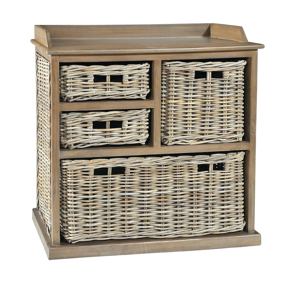 May Large Storage Unit With 4 Baskets