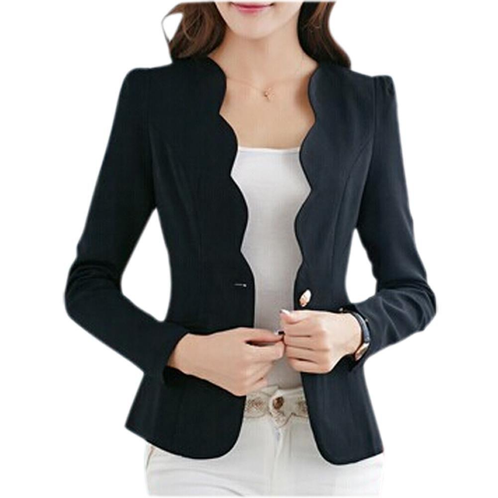 Black jacket womens casual