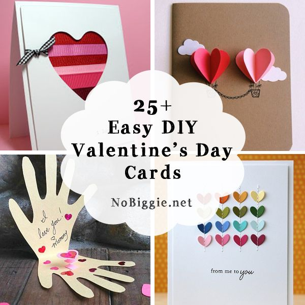 25 Easy DIY Valentines Day Cards – Valentine Day Cards for Preschoolers