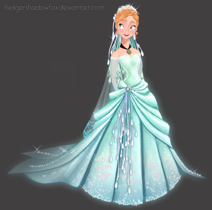 Of course Elsa would make Anna\'s wedding dress. Kristoff would be ...