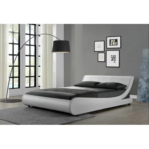 Karr Low Profile Bed Curved Bed Curved Bed Frame Upholstered Beds