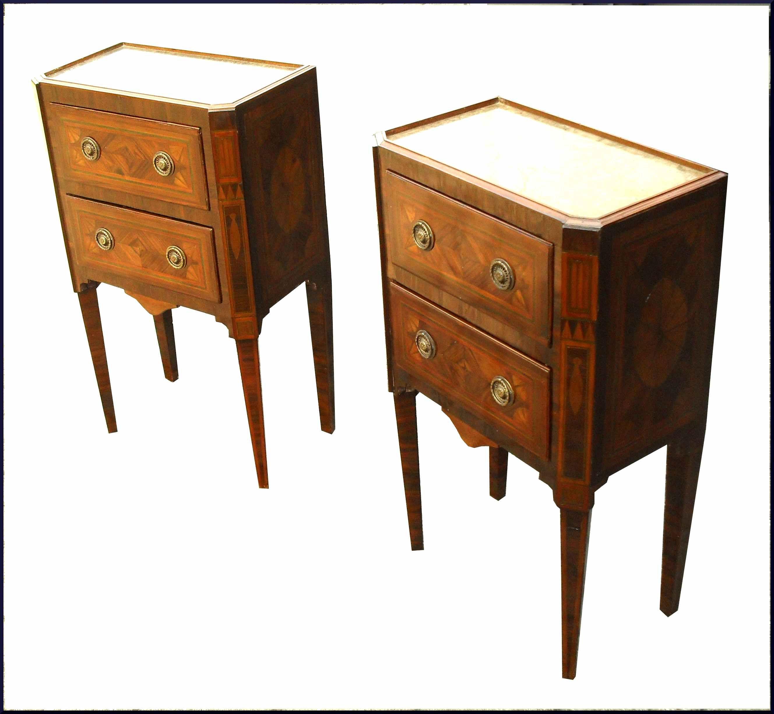 Antichi comodini luigi xvi intarsiati mobili antichi e d - Mobili luigi xvi prezzi ...