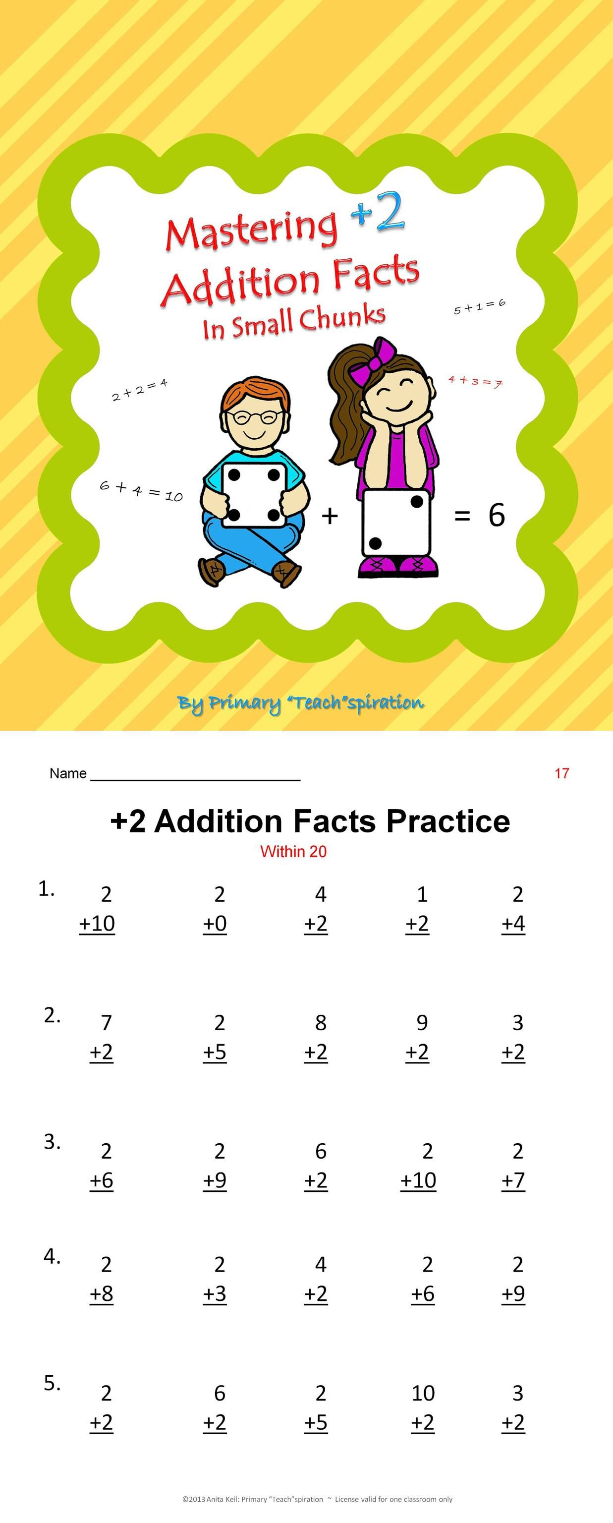 2 Addition Facts Practice Amp Assessments