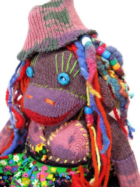 sock monkey with dreads   sock monkeys love   Pinterest