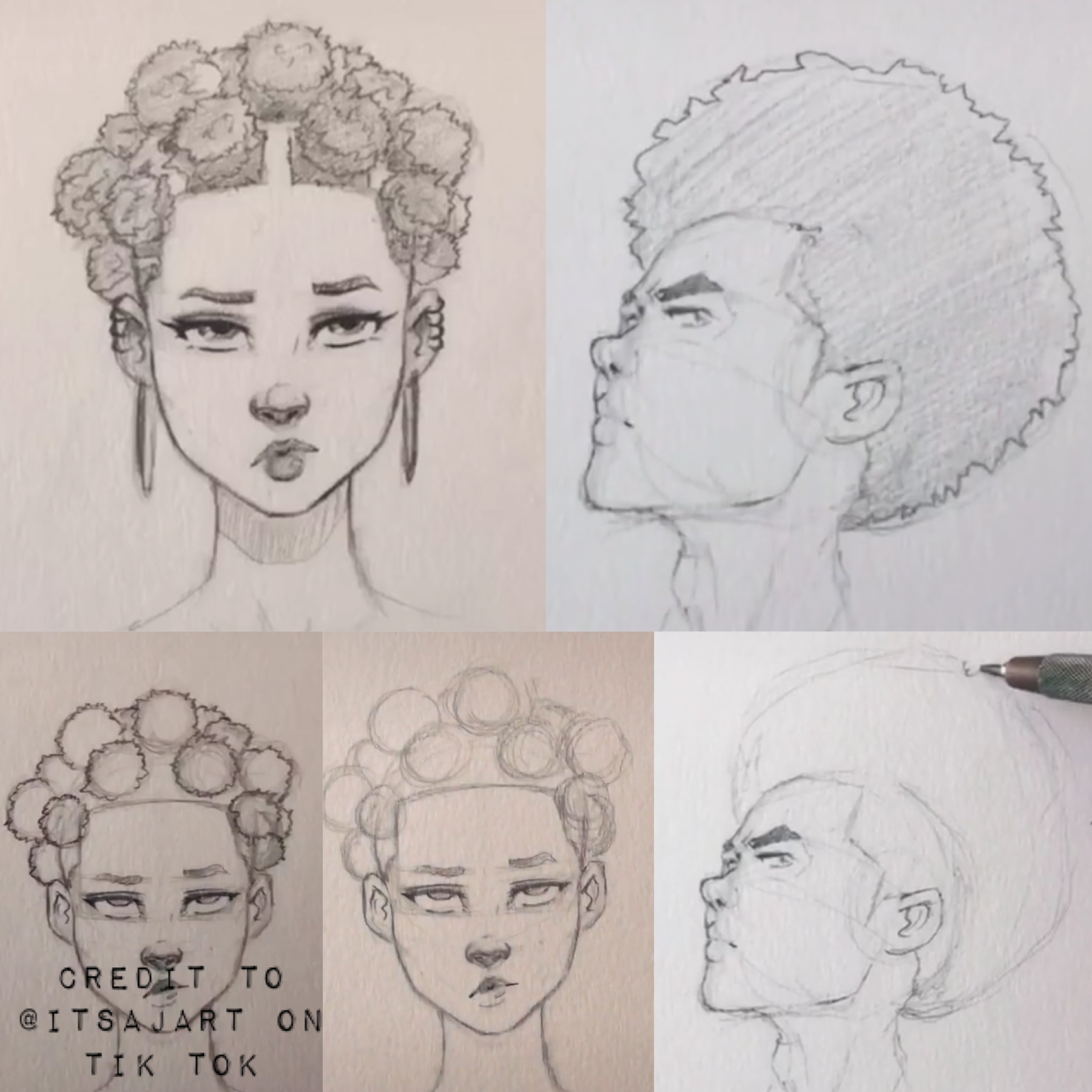 How To Draw African Hair In 2020 Drawings Anime Dolls Sketch Book