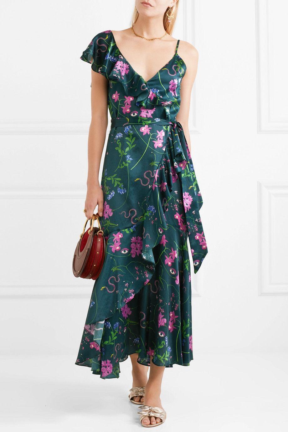 Isadora Printed Cotton And Silk-blend Satin Maxi Dress - Purple Borgo De Nor Original Cheap Price 42wFQZVhE