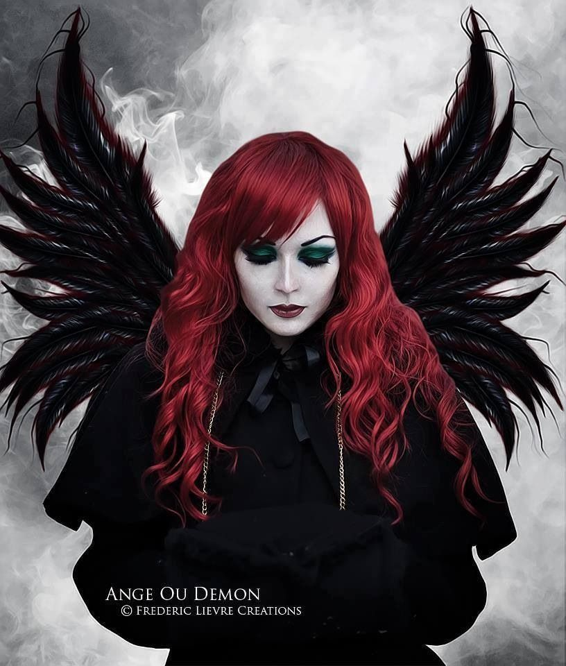 red haired angel in black | Angels in Flight... | Pinterest ...