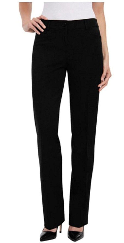 Women S Straight Leg Flat Front Dress Pant Black C012d1w4b4l Womens Dress Pants Pants For Women Fashion Clothes Women [ 1500 x 768 Pixel ]