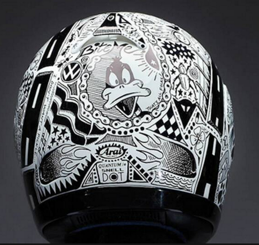 Sharpie Helmets A Permanent Marker Canvas Motorcycles