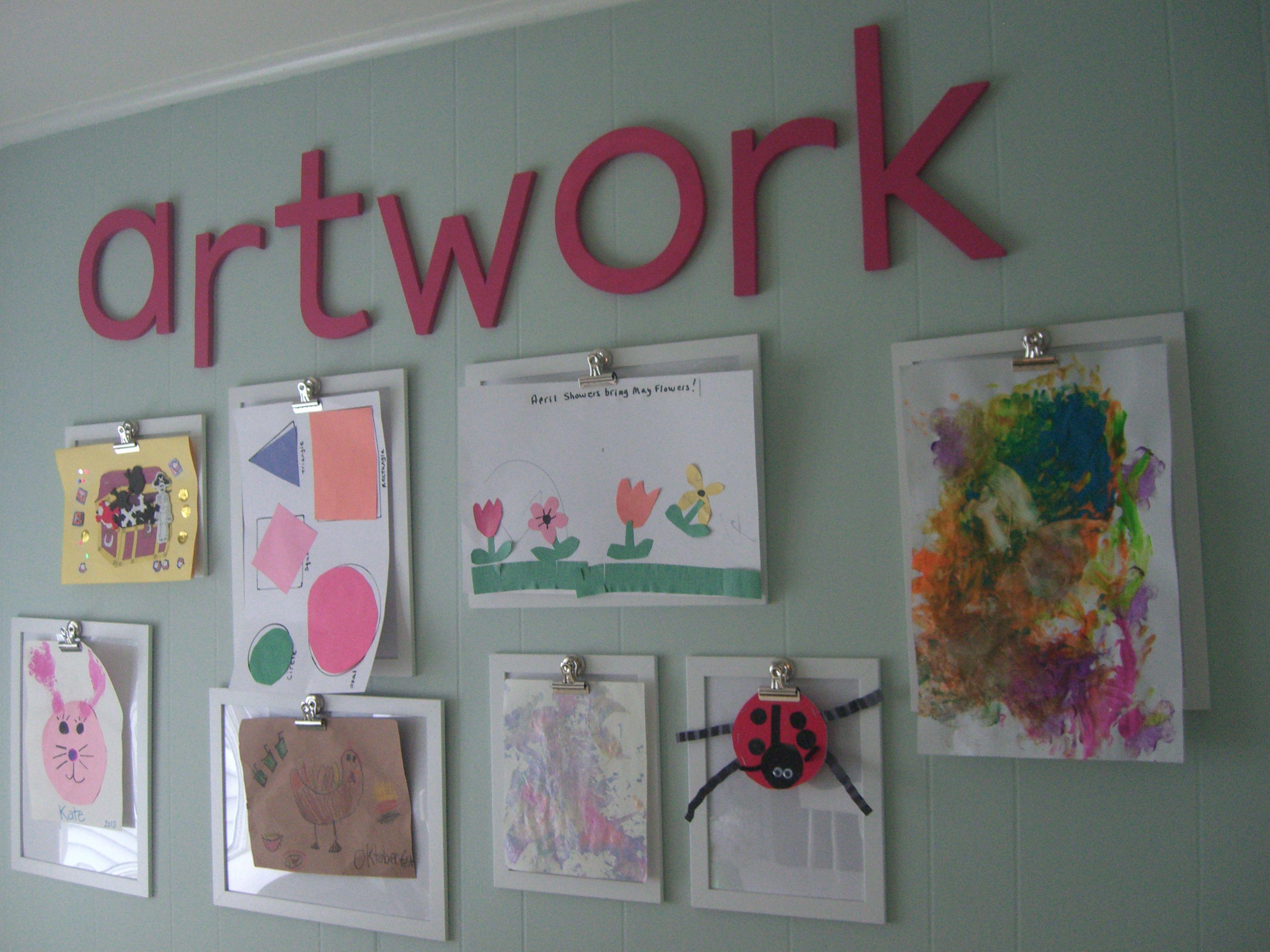 Kitchen Wall Kids Artwork Display Home Displaying