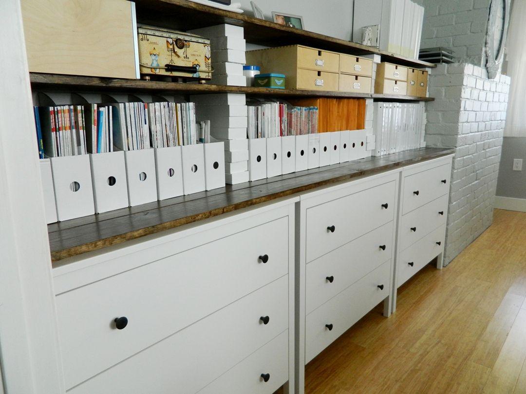 ikea office storage. IKEA Sewing Room | Little Corner House: Ikea Dressers + Shelves For Office/sewing Office Storage E