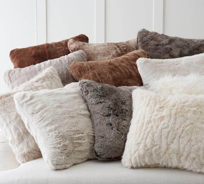 Pottery Barn Faux Fur Pillow Cover Fur Pillow Faux Fur And Pillow Cool Faux Sheepskin Pillow Cover