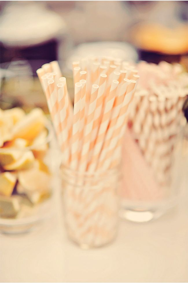 sweet striped straws via StyleUnveiled.com / Lovely Vow Renewal / Tamiz Photography