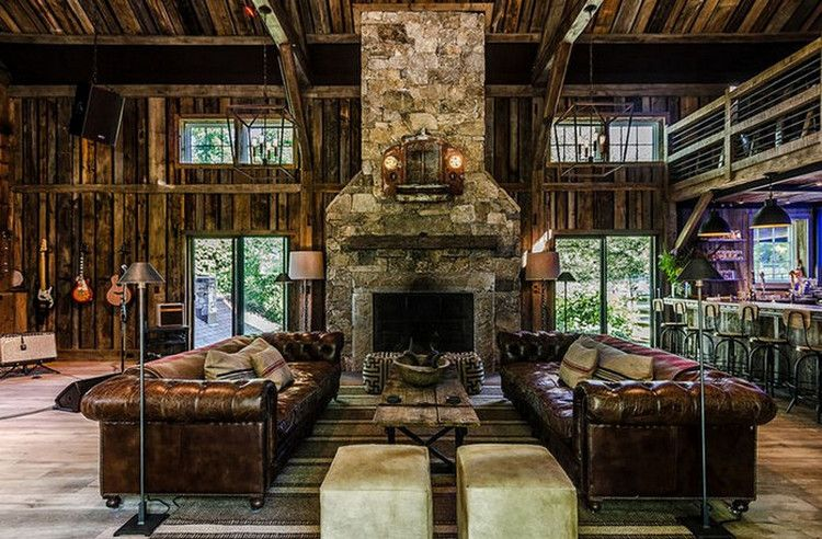 This Converted Barn Might Be The Coolest Man Cave We Have Ever Seen 11 Photos Suburban Men Converted Barn Converted Barn Homes Pole Barn House Plans