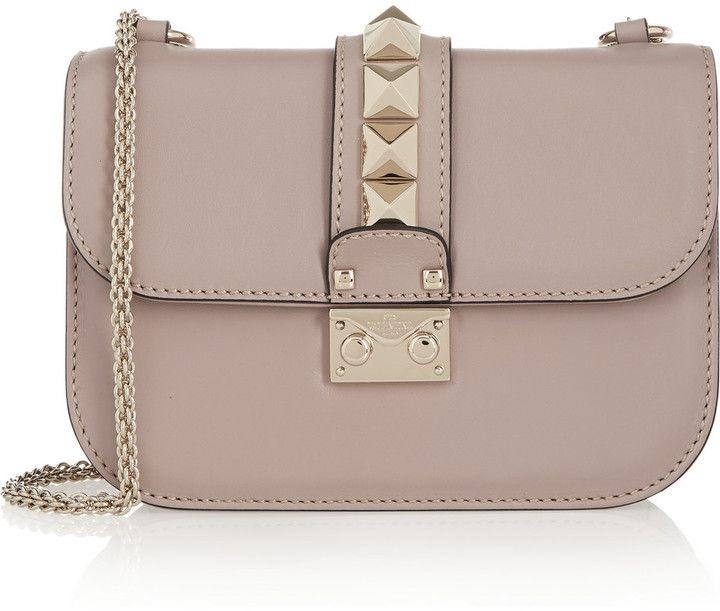 f51af64de4dc Valentino Lock Small Leather Shoulder Bag
