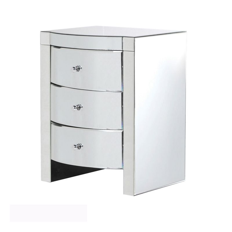 Beautiful White 3 Drawer Bedside Cabinet