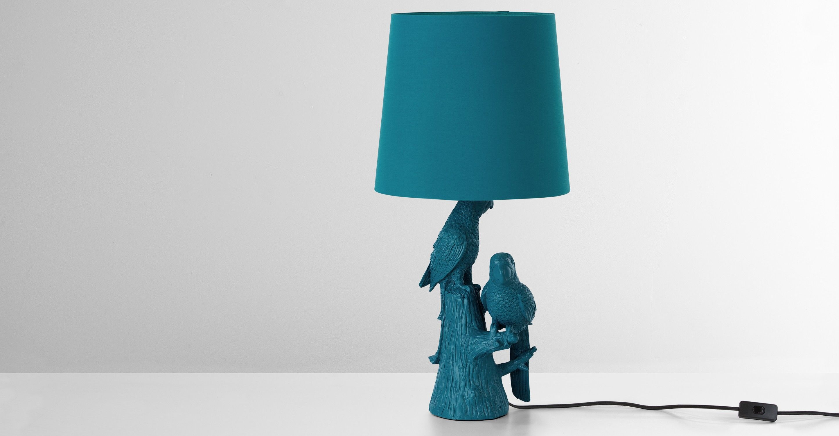 Parrot lampe de table bleu canard