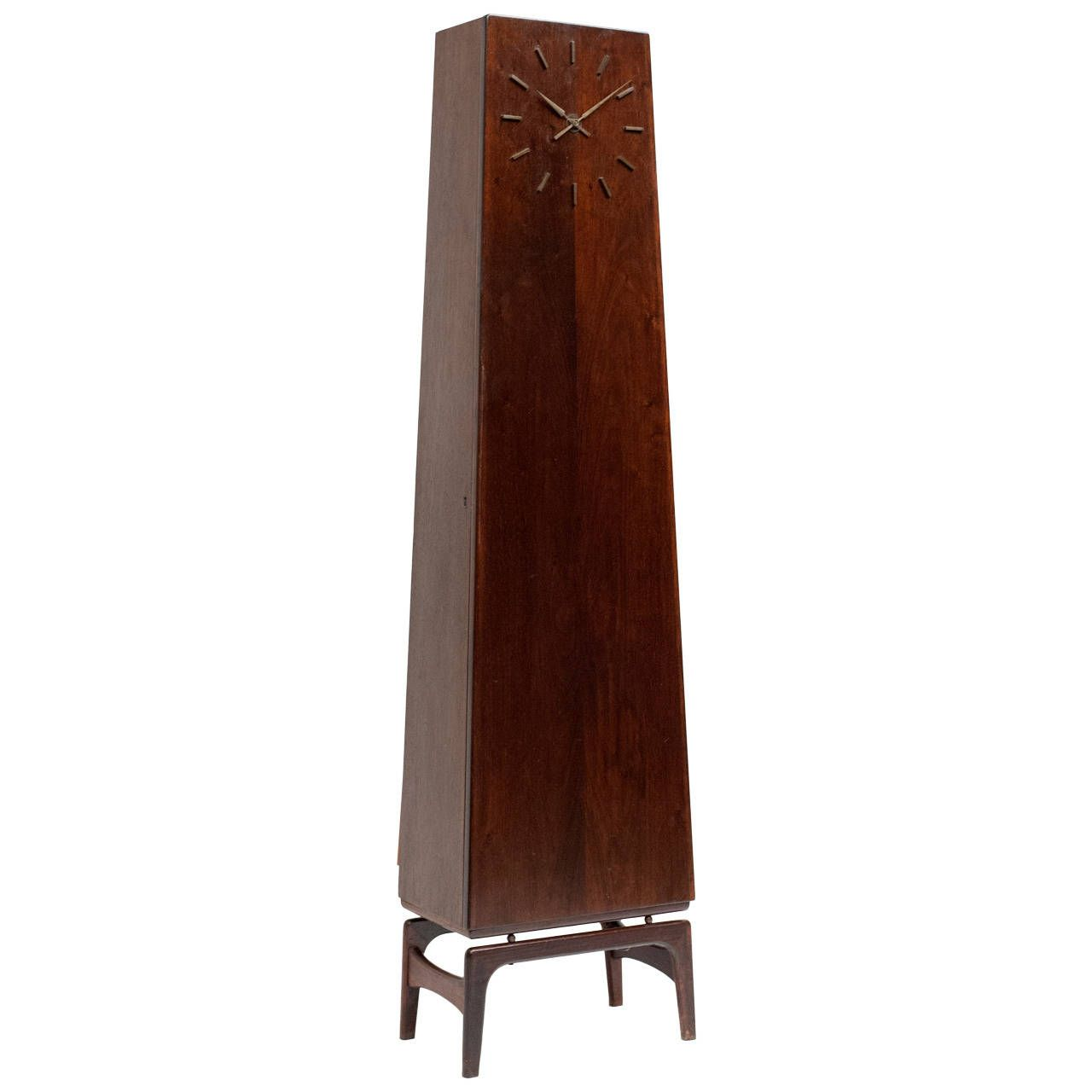 hidden bar furniture. Danish Modern Rosewood Grandfather Clock With Hidden Bar Furniture
