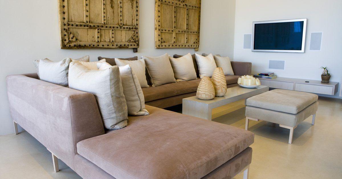 Ideas de decoraci n con sof s seccionales para salas de for Desarrollar una gran sala de estar