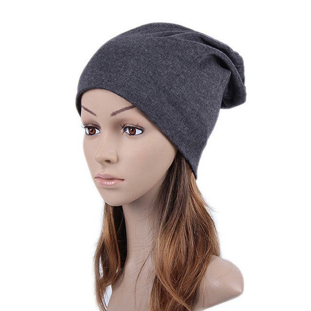 2e84f5d8308 Geebro Spring Women s Beanie Hats Plain Color Woman Knitted Bone Hat for  Girls Female Women s Hat