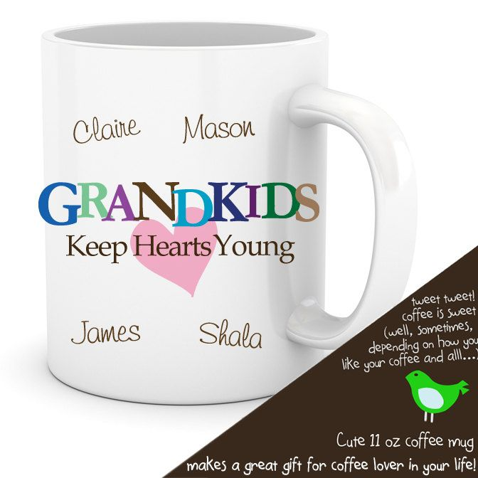 grandparent coffee mug grandkids keep hearts young great t for