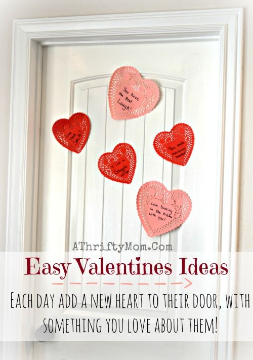 Valentines Ideas For Kids ~ Easy idea to make the whole month ...