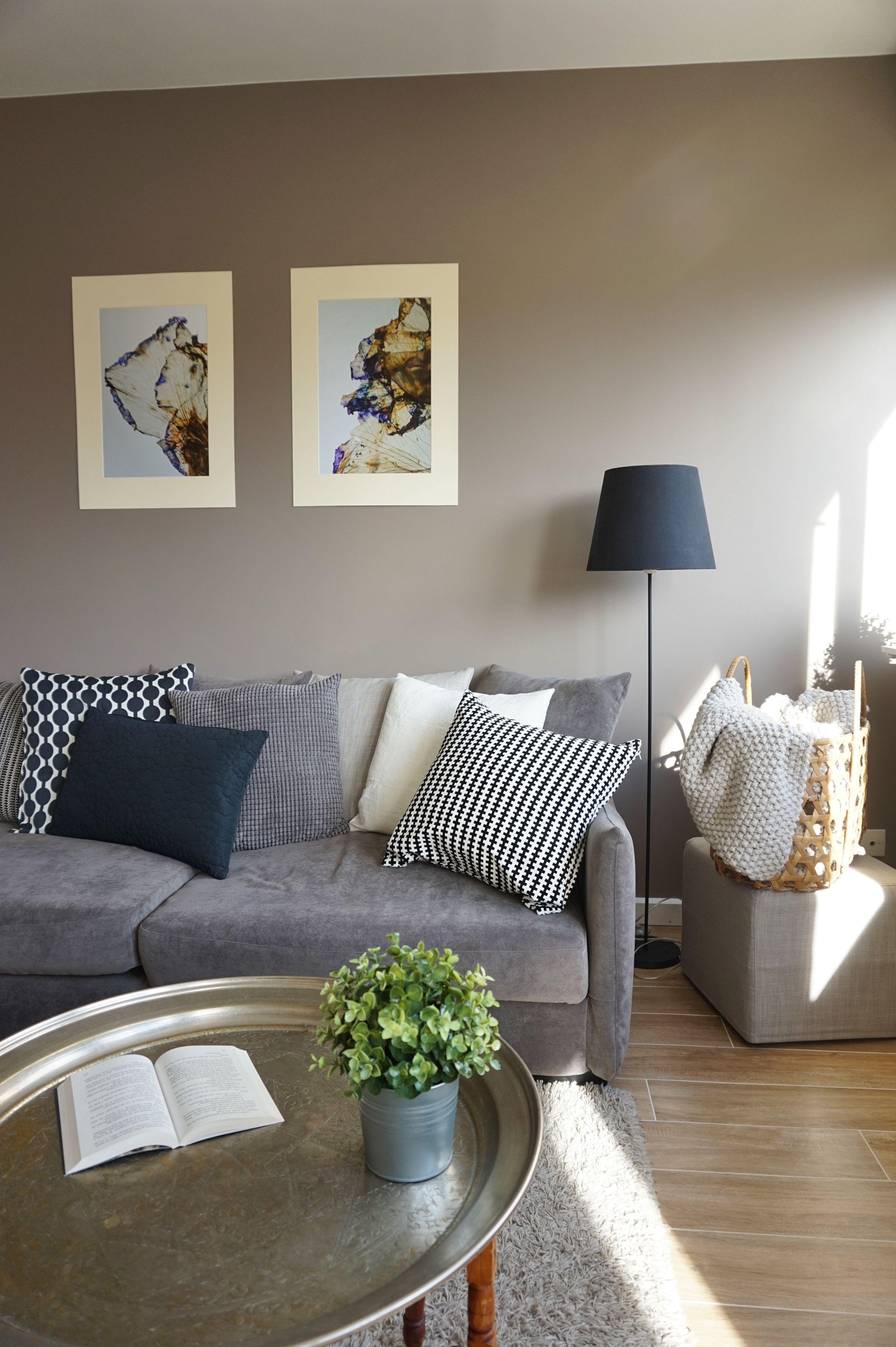 Salon chic et chaleureux dans un appartement  Orsay par l agence d