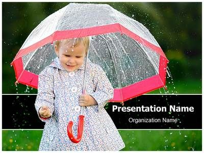 child in rain powerpoint template is one of the best powerpoint