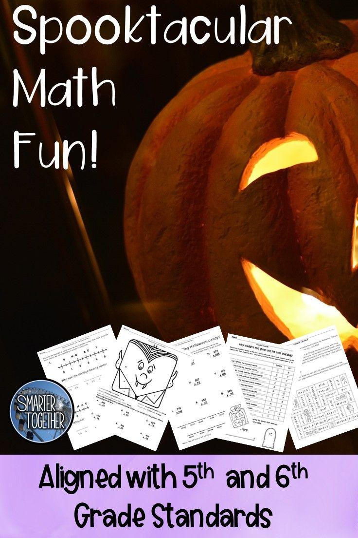Halloween Math Seasonal Math Activities Halloween Math 6 Fun Filled Halloween Math Activi Halloween Math Worksheets Halloween Math Activities Halloween Math [ 1104 x 736 Pixel ]
