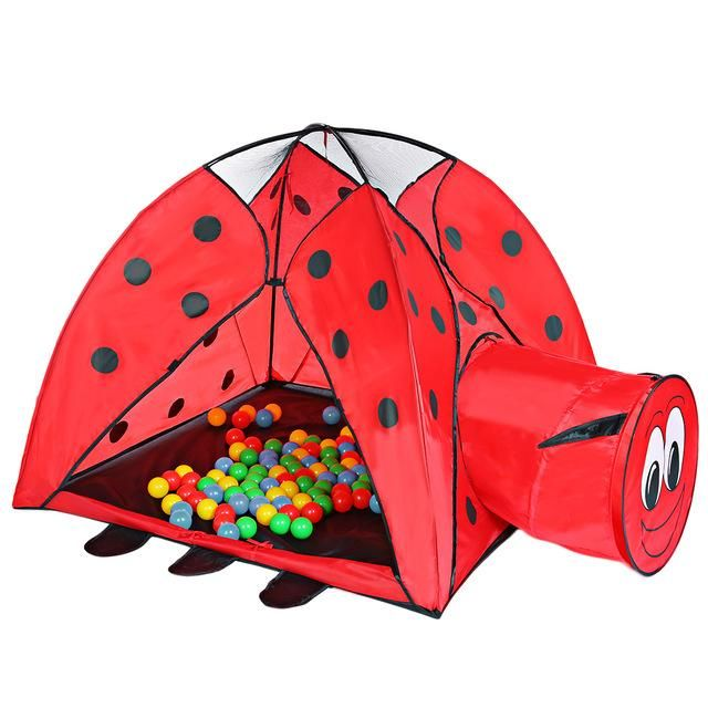 Portable Indoor Playhouse Ladybird Pattern Kid Toy Tent Outdoor Ocean Ball Pit Pool Baby Play Tent  sc 1 st  Pinterest & Portable Indoor Playhouse Ladybird Pattern Kid Toy Tent Outdoor ...