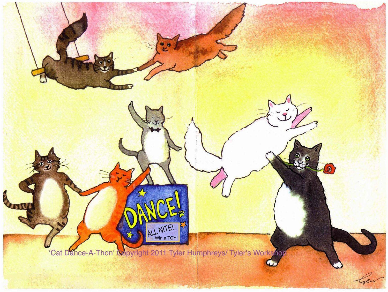 Dancing Cats Kitty Illustrations Pinterest Cat And Kitten