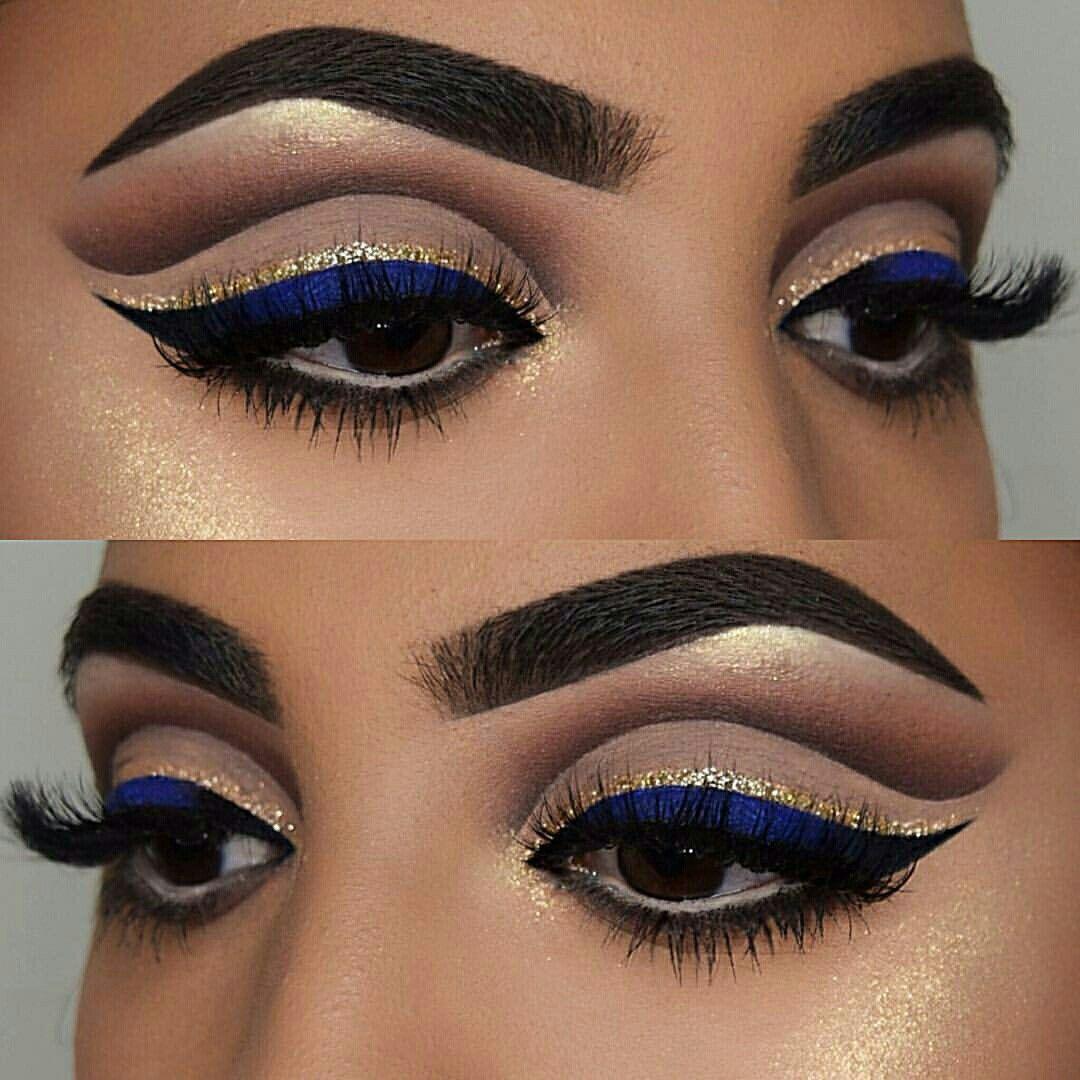 Royal Blue Makeup Idea For Bride Or Bridesmaids At Wedding