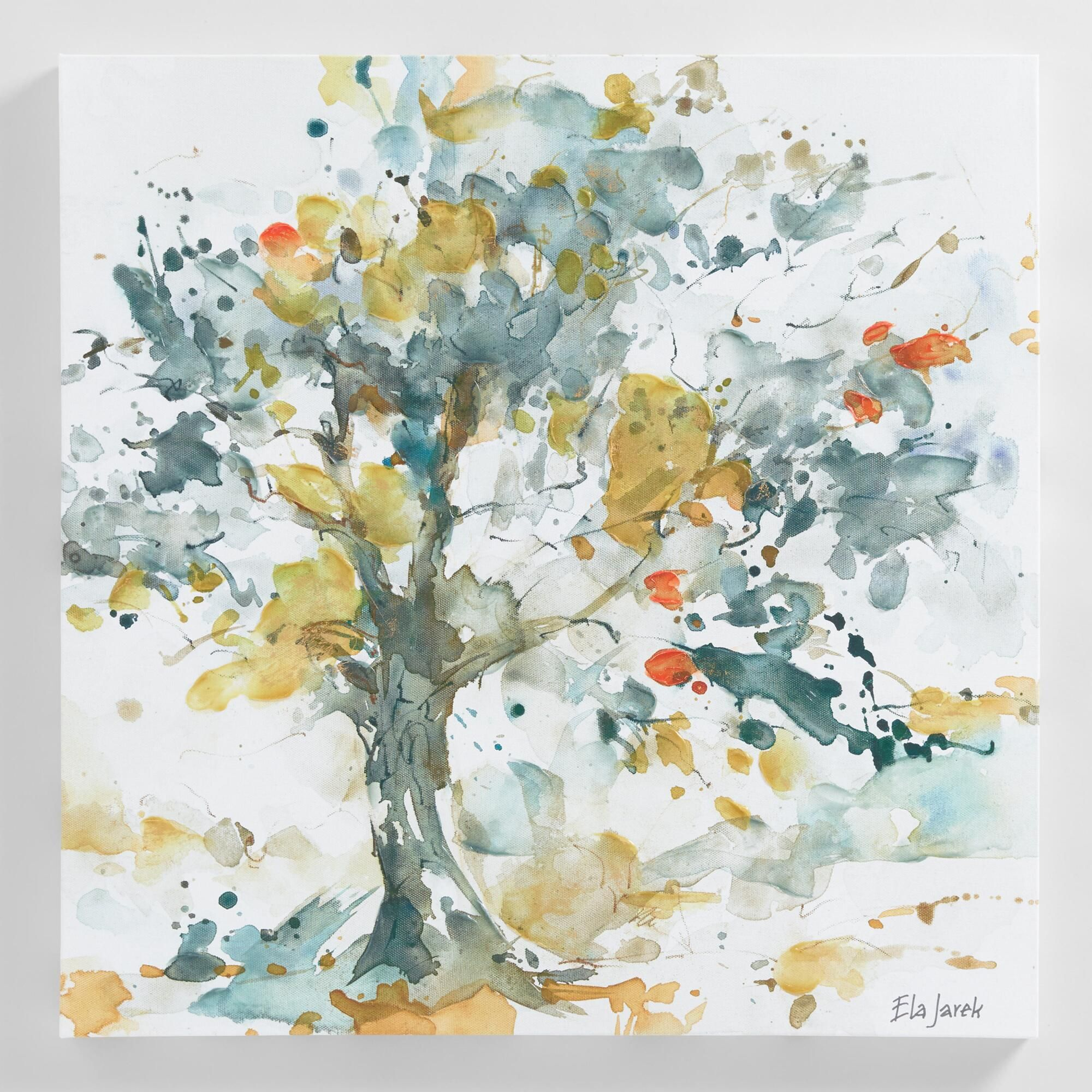 Watercolor Trees By Ela Jarek Blue Gray Multi Canvas