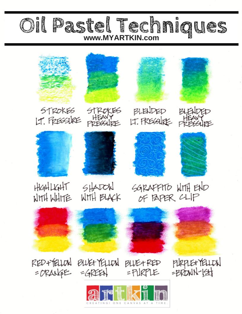 Oil Pastel Technique Chart The Basics To Do Asap