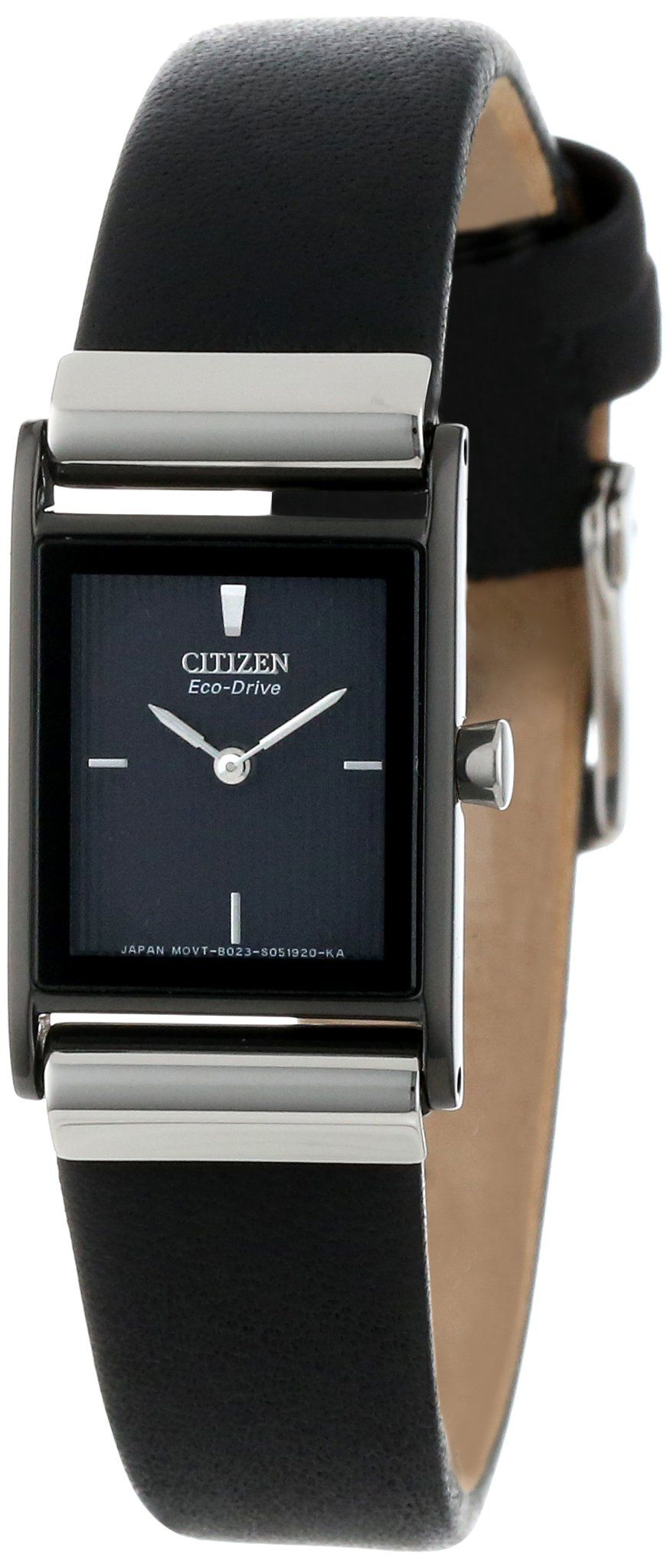 Amazon.com: Citizen Women's EW9215-01E Eco-Drive Stainless Steel Watch with  Black Leather Band: Citizen: Watches