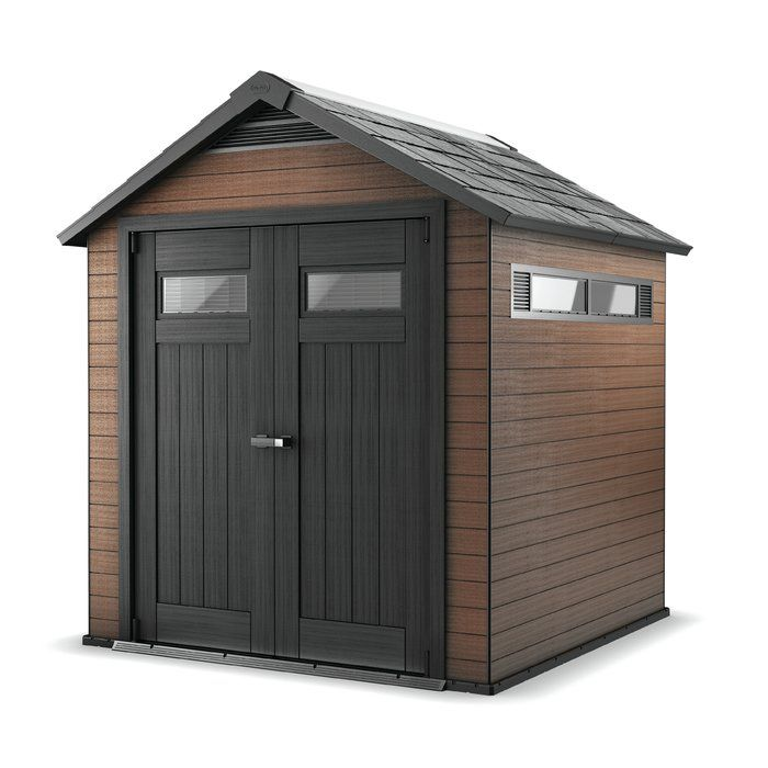 The World S First Diy Shed Made Of Wood Plastic Composite Wpc Material Fuses The Advantages O Plastic Storage Sheds Wood Storage Sheds Outdoor Storage Sheds