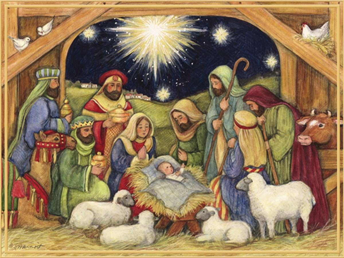 susan winget u2014 adore him christmas cards 1200x900 blessed holy